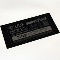 UDF locker sign