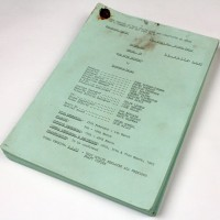 Production used script - The Five Doctors