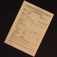 2nd unit effects call sheet