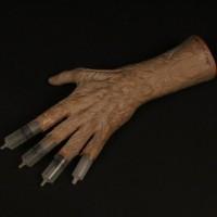 Freddy Krueger (Robert Englund) hypodermic needle hand prototype