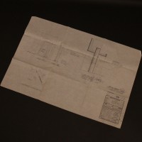 Hand drawn Spindrift interior technical drawing