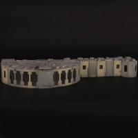 Alpha Moonbase building miniature