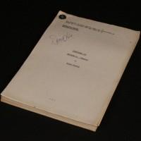 Roger Parkes personal script - Sparks