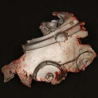 The Terminator (Arnold Schwarzenegger) endoskeleton cranium section