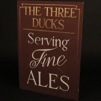 The Three Ducks pub sign - Ducking and Diving
