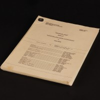 Production used camera script - Attack of the Cybermen
