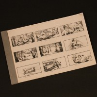 Production used storyboard sequence - Chase in the woods