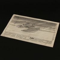 Production used storyboard - Batwing descends