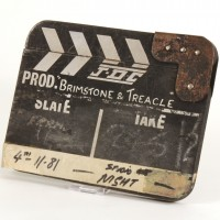 Production used clapperboard