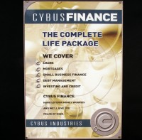 Large Cybus Finance poster - Rise of the Cybermen/The Age of Steel