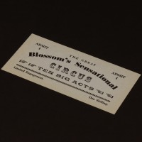 Blossom's Circus ticket