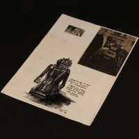 Ian Scoones hand drawn surveillance robot concept artwork - Seek-Locate-Destroy