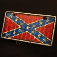Joe Wade (Scott Glenn) Confederate Jeep plate