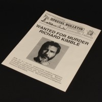 Dr. Richard Kimble (Harrison Ford) wanted bulletin