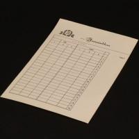 Gin rummy score sheet