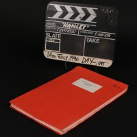 Production used clapperboard & script