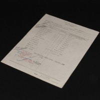 Production used call sheet
