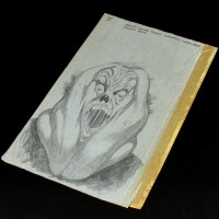 Bernie Wrightson hand drawn concept artwork - Library Ghost
