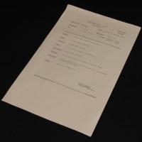 Model unit call sheet