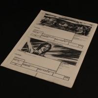 Production used storyboard sequence - Atreyu & Morla
