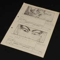 Production used storyboard sequence - Sphinx Gate