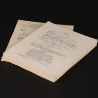 Production used script & shooting schedules