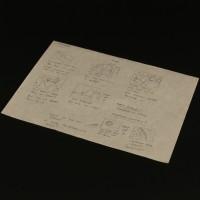 Hand drawn visual effects storyboard artwork - Blue
