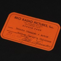 Donnie Dunagan (Peter Carey) RKO Radio Pictures studio pass