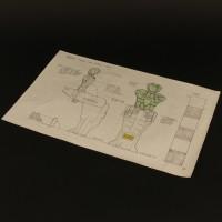 Hand Drawn Achilles yoke concept artwork