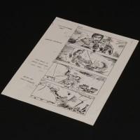 Production used storyboard - Sail Barge