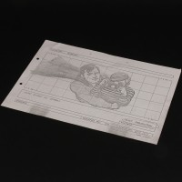 Production used storyboard - Superman & Jimmy