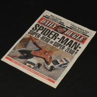 Daily Bugle Spider-Man newspaper cover