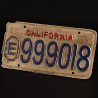 Police car licence plate
