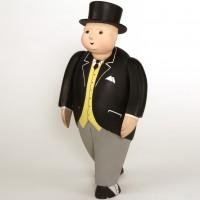 Large scale walking Fat Controller miniature