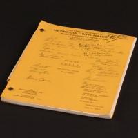 Production used script - The Galatea Affair