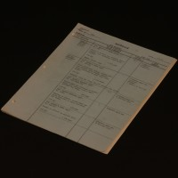 Production used shooting schedule