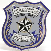 Seattle Police magnetic car emblem