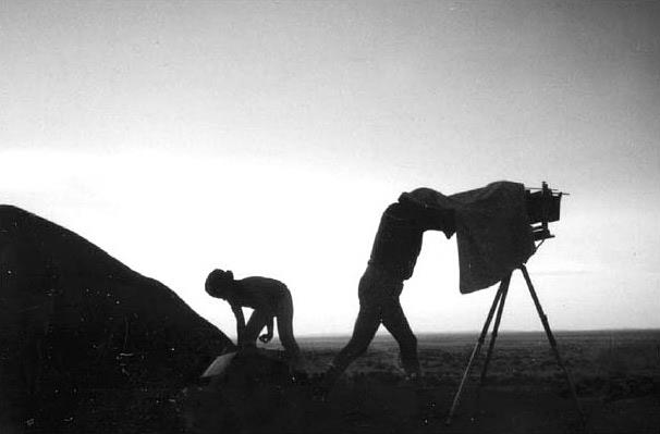 Shooting the plates on location in Africa
