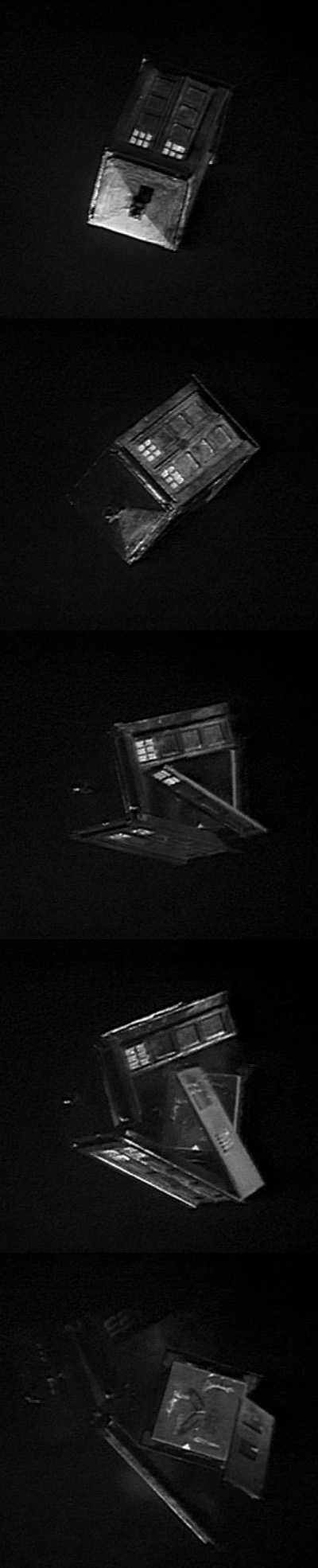 The TARDIS on screen in the 1968 serial The Mind Robber