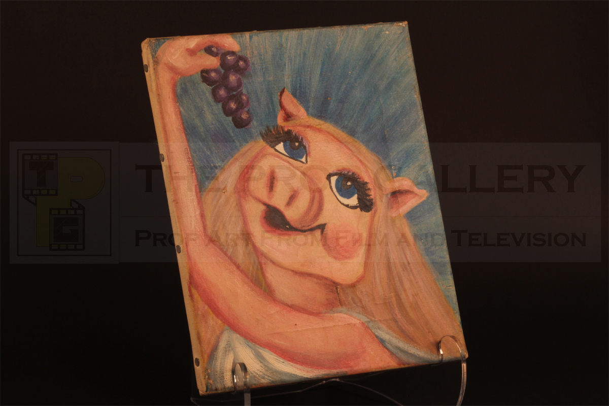 Original screen used self portrait painted by Miss Piggy in The Muppet Show.