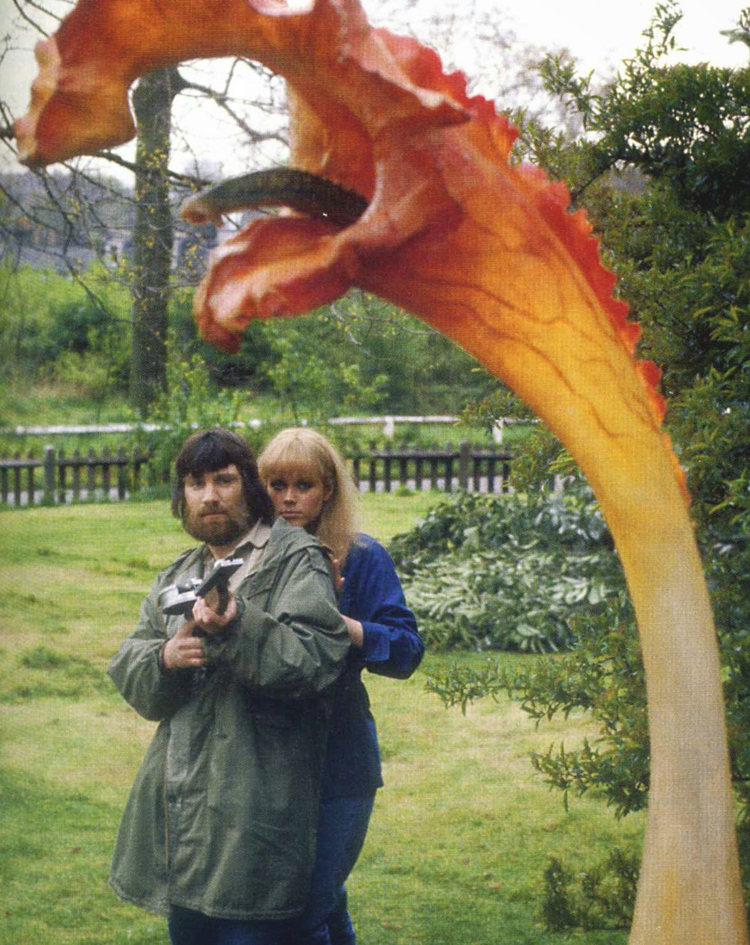 John Duttine and Emma Relph in a publicity shot for the Day of the Triffids