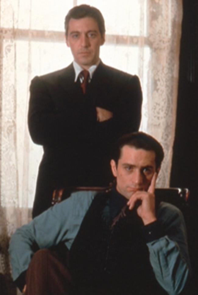 Robert De Niro and Al Pacino in one of the famous shots taken by Steve Schapiro.