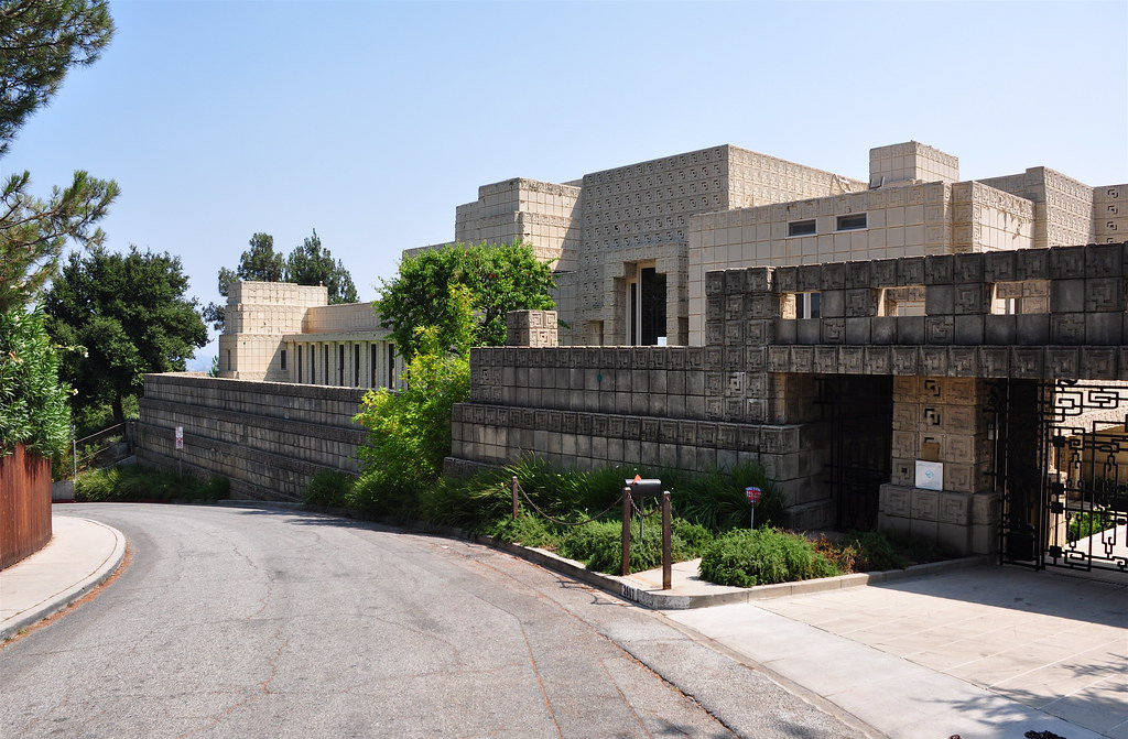 The Ennis House designed by Frank Lloyd Wright