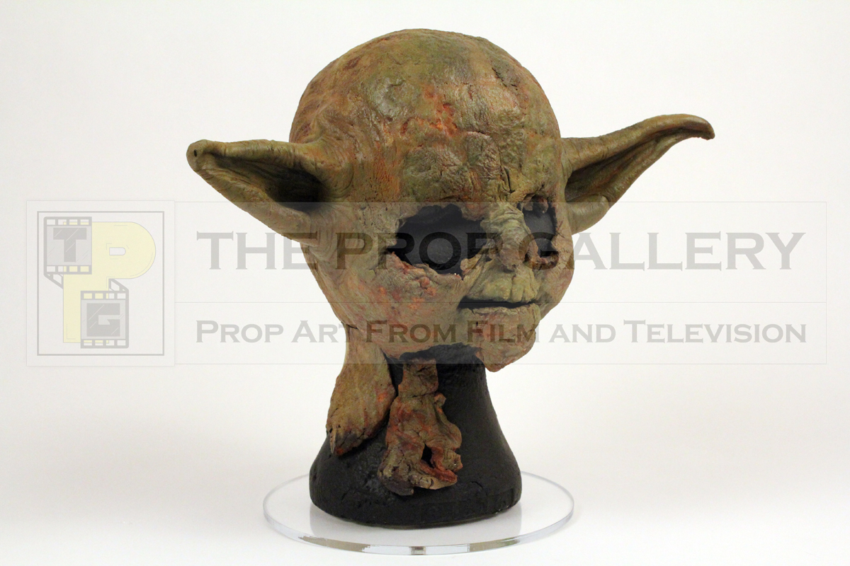 Original Yoda head skin used in the production of Star Wars Episode V: The Empire Strikes Back