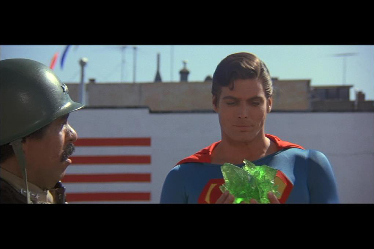 Original Kryptonite used in the production of Superman III